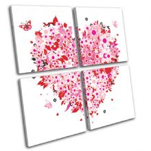 Floral Heart Pink Love - 13-0043(00B)-MP01-LO